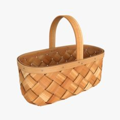 of wicker basket 3D Model