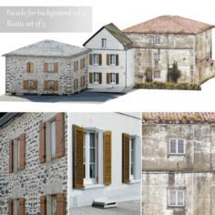Facade for the background vol.4 Picturesque village 1                                      3D Model