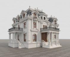 Classic Villa 3D Model