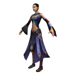 Game 3D Characters – Female Faw 03 3D Model