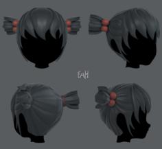 3D Hair style for girl V15 3D Model