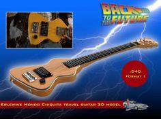 Erlewine Hondo Chiquita Travel Guitar 3D Model