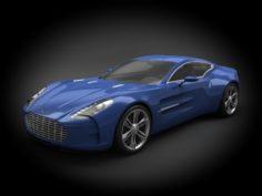 Aston Martin One-77 2012 3D Model