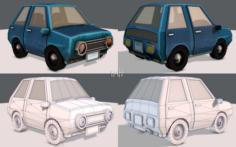Cartoon Car 01 3D Model