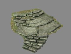 New Village – stone steps 03 3D Model