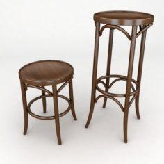 K11 bentwood stool 3D Model