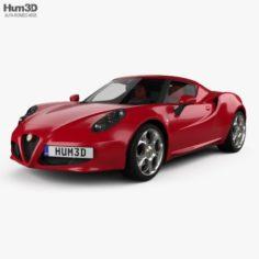 Alfa Romeo 4C with HQ interior 2014 3D Model