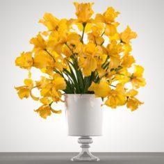 Bouquet of yellow flowers 3D Model