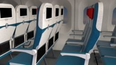 Airplane interior 3D Model