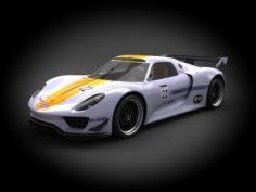 Porsche 918 RSR 2012 3D Model