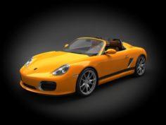 Porsche Boxter Spyder 2011 3D Model