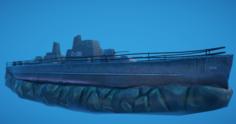 3D Battleship Shipwreck 3D Model