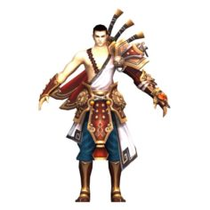 Game 3D Character – Male Warrior 05 3D Model