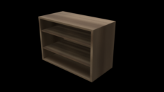 Classroom Bookshelf 3D Model
