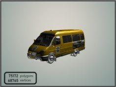 GAZelle 2705 Taxi 3D Model