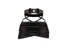 Skirt on Female Avatar 3D Model