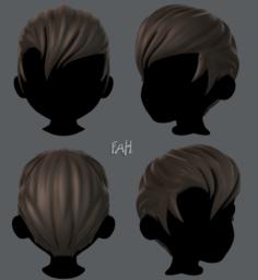 3D Hair style for boy V10 3D Model