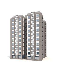 Residential Building Skyscraper 3D Model
