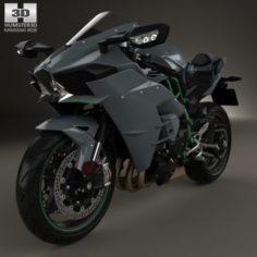 Kawasaki Ninja H2 2015 3D Model