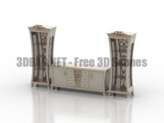 Gotha Commode Showcase Classic 3D Collection