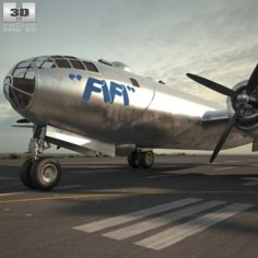 Boeing B-29 Superfortress 3D Model