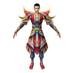 Game 3D Character – Male Taoist 06 3D Model