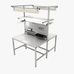 Dual adjustable working table Island 3D Model