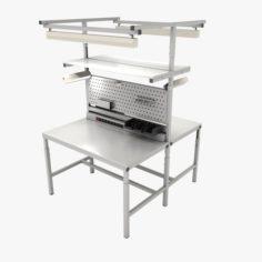 Admirable Workbench 3D Model In Max Fbx C4D 3Ds Stl Obj Evergreenethics Interior Chair Design Evergreenethicsorg