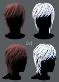 3D Hair style for woman V02 3D Model