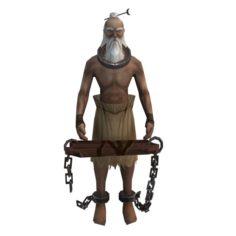 Game 3D Character – Old Prisoner 3D Model