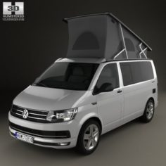 Volkswagen Transporter T6 California 2016 3D Model