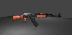 AK 47 Kalashnikov 3D Model
