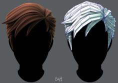 3D Hair style for Man V02 3D Model