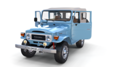 Land Cruiser FJ 40 Soft Top with interior 3D Model
