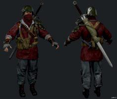Quartermaster Attack Of The Undead Carver Butcher 3D Model