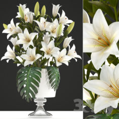 Collection of flowers 51. Bouquet of lilies.                                      3D Model