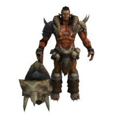 Game 3D Character – Warrior Ujung 3D Model