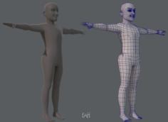 Base mesh old man character 3D Model