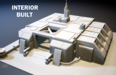 Sci-Fi RPG House with interior – High details level VR – AR – low-poly 3D Model