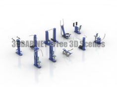 ROMANA Outdoor GYM sport simulators 3D Collection