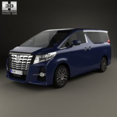 Toyota Alphard 2015 3D Model