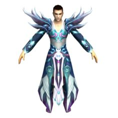 Game 3D Character – Male Mage 06 3D Model
