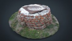 Sewer with bricks 3D Model