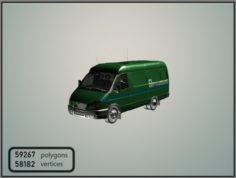 GAZelle 2705 PrivatBank 3D Model