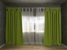 Curtain room set 3D Model