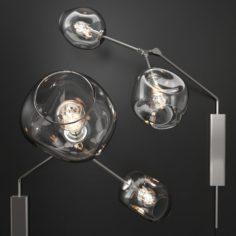 Bra Branching bubble by Lindsey Adelman CLEAR SILVER 3D Model