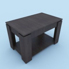 Table 80x50x50 cm 3D Model