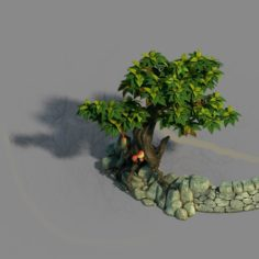Small bamboo peak – the surface 06 3D Model