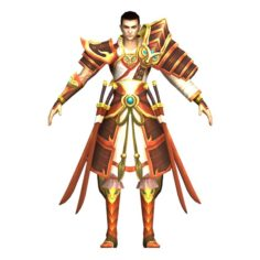 Game 3D Character – Male Warrior 06 3D Model