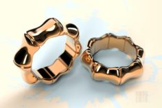 Fashionable gold ring 3D Model